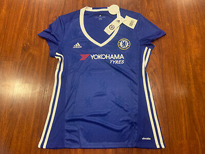 2016-17 Adidas Chelsea Women's Home Soccer Jersey Large L Blues • 23.61£
