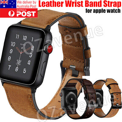 AU14.95 • Buy For Apple Watch Band Leather Strap IWatch Series 6 5 4 3 2 38/40/42/44mm AU