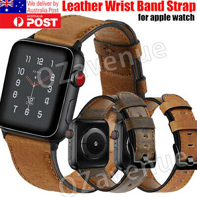 AU15.39 • Buy For Apple/Watch Band Genuine Leather Strap IWatch Series 5 4 3 2 1 38/40/42/44mm