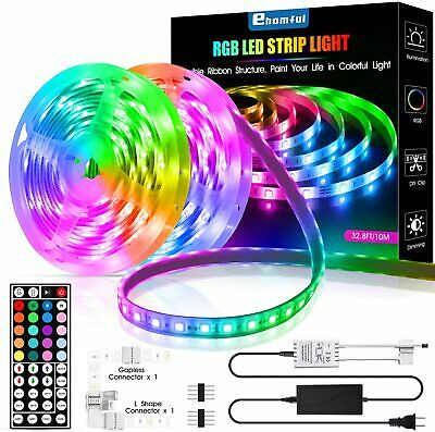 $29.97 • Buy Indoor Led Strip Light 32.8ft 5050 Color Changing With Remote For Room Kitchen