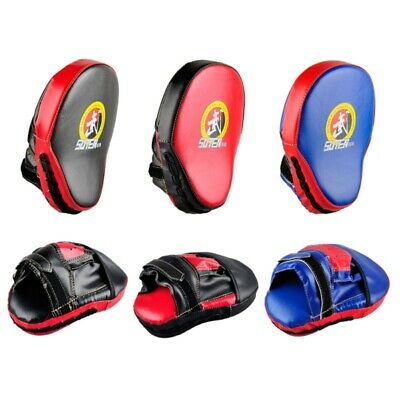 AU23.97 • Buy Curved Focus Pads Punching Pad Martial Art MMA Boxing Mitten Training Gloves Set