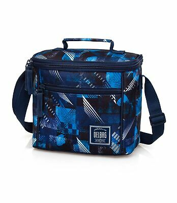 Cooler Lunch Bag Boys Girls School Insulated Snack Box Blue Abstract • 13.95£