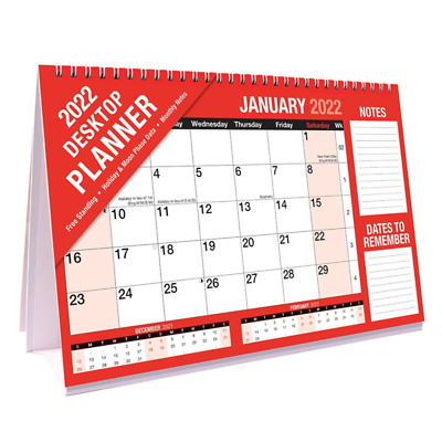 2021 Desk Planner Month To View Easy Flip Free Standing Office Home Planner  • 3.99£