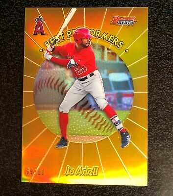 $3.25 • Buy Jo Adell 2018 Bowman's Best Gold Refractor /50 Best Performers Rookie RC