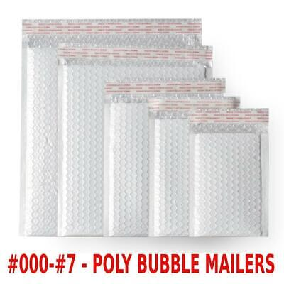 $8.98 • Buy Any Size Poly Bubble Mailers Shipping Mailing Padded Bags Envelopes #000 - #7
