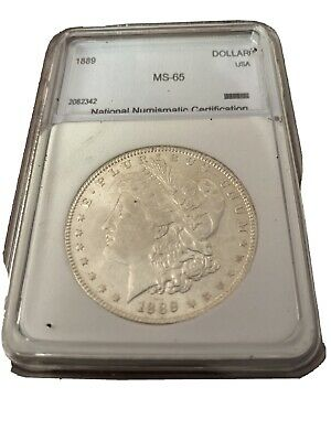 $8.50 • Buy Unc Uncirculated 1889 Morgan Silver Dollar - $1.00 Mint State MS BU