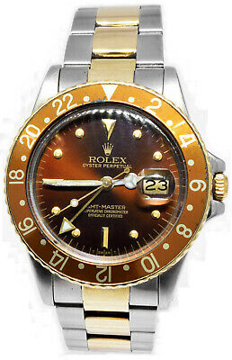 $ CDN15351.92 • Buy Rolex GMT-Master Root Beer 14k Yellow Gold & Steel Mens Vintage Watch 16753
