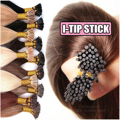 $26.60 • Buy CLEARANCE Stick I-Tip Glue Pre-bonded Keratin 100% Remy Human Hair Extensions 1G