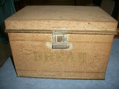 $26.99 • Buy Vintage Antique Tin Bread Box Rustic Vented Hinged Rare