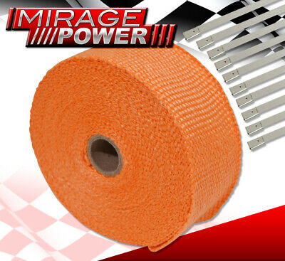 $ CDN32.47 • Buy 30 Feet Exhaust Header Forced Induction Piping Heat Wrap Cover + Stainless Ties