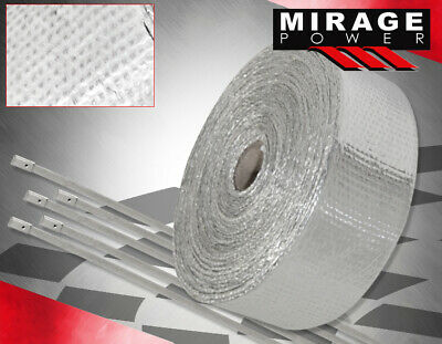 $ CDN32.47 • Buy 360 /30Ft Car Motorcycle Exhaust Pipe Header Heat Wrap Roll+Stainless Tie Silver
