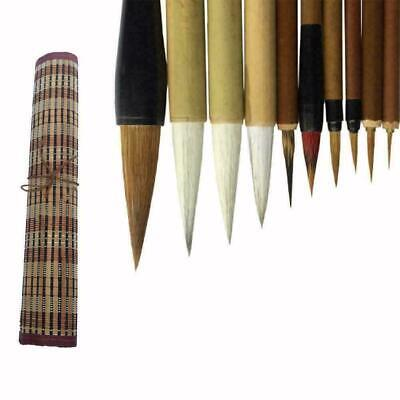 Bamboo Traditional Chinese Calligraphy Brushes Set Painting Supplies Art T7Y8 • 9.93£