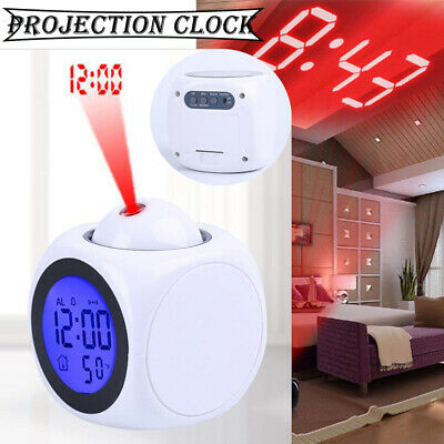 £8.02 • Buy Projection Alarm Clock Wall/Ceiling LED LCD Digital Voice Talking Temperature