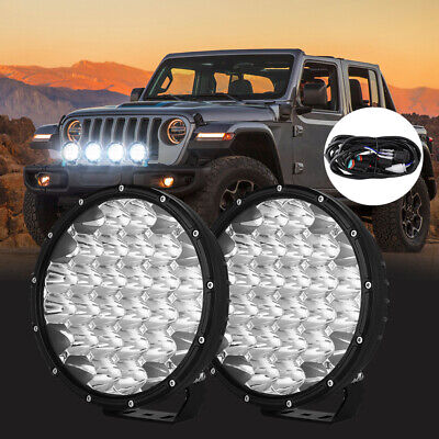 AU103.99 • Buy NEW DESIGN LED Driving Spot Lights 9inch OSRAM Black Round Offroad Truck SUV 4x4