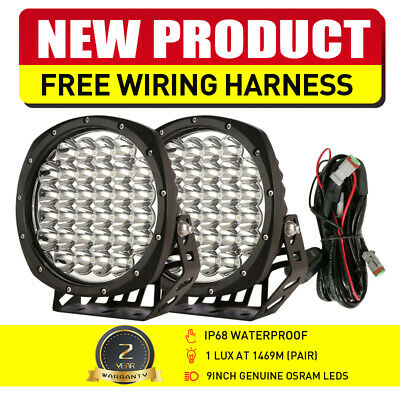 AU102.99 • Buy NEW DESIGN LED Driving Spot Lights 9inch OSRAM Black Round Offroad Truck SUV 4x4