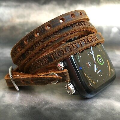 AU59.59 • Buy Leather Apple Watch IWatch Fitbit Charge 3 2 Inspire Versa Strap Band Bracelet