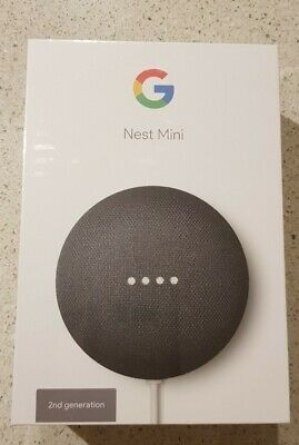 AU40 • Buy Google Nest Mini (2nd Generation) Smart Speaker - Charcoal New
