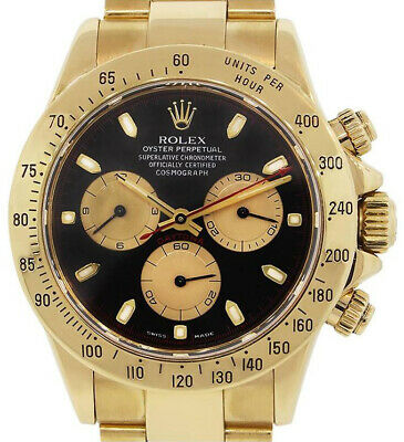 $ CDN37912.57 • Buy Rolex Daytona Chronograph 18k Yellow Gold Paul Newman Dial Mens Watch 116528