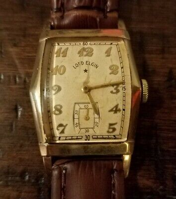 $ CDN88.45 • Buy Vintage Lord Elgin 21Jewel Watch 14k Gold Filled 25mm Case Leather Band