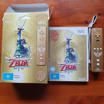 AU51 • Buy Zelda Skyward Sword Limited Edition In Box Gold Wii Remote NOT WORKING
