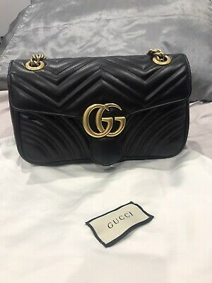 AU2300 • Buy Authentic Near New Excellent Condition Gucci GG Marmont Small Shoulder Bag