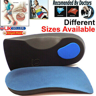 3D Orthotic Flat Feet Foot High Arch Gel Heel Support Shoe Inserts Insoles Pads • 3.39£