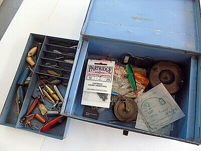$ CDN16.91 • Buy Vintage Carry All Fishing Tackle Box With Lures Etc.