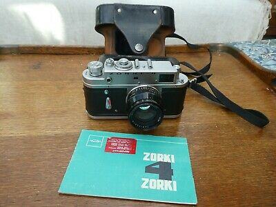 Zorki 4k Camera C/w Jupiter 8 50mm F2, With Leather Case. • 20£