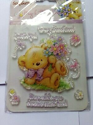 My Little Bear Clear Stamp Set By Scrapberry. Size Approx. 4 X 4  • 2£