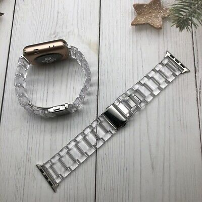 $ CDN17.04 • Buy Transparent Resin Watch Band IWatch Strap Bracelets For Apple Watch Series 5/4/3
