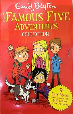 Famous Five Adventures Collection By Enid Blyton Classic Stories 9 Books Set NEW • 49.99£