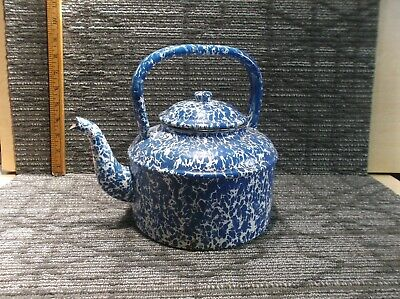 $10 • Buy  Blue & White  Graniteware  Enamel Coffee Tea Pot.