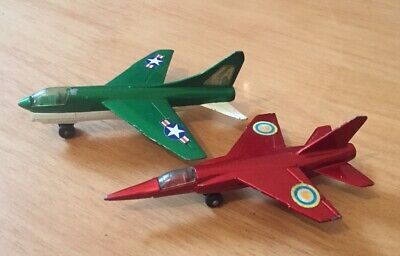 2 X Matchbox/lesney Planes..corsair & Mirage..1973..vintage Vehicles.. • 7.50£