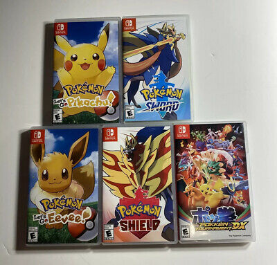 $239.99 • Buy Nintendo Switch Game Lot Of 5 Pokémon Games