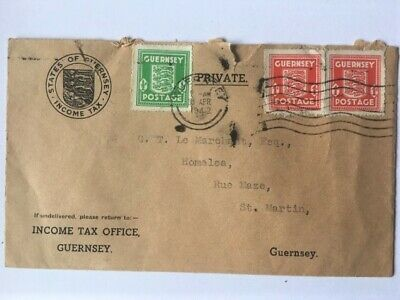 Wartime Guernsey 'Income Tax' Envelope Dated 30th April 1942. • 2£