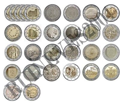 $ CDN184.55 • Buy  29 X 2 Euro Commemorative Coins 2017 - Uncirculated Coins ** Complete SET * RAR