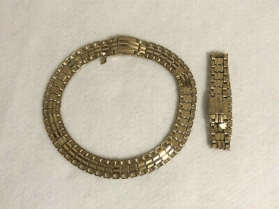 $20 • Buy  Sarah Coventry Vintage Gold Tone Choker And Bracelet Set With Snap Closures