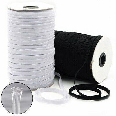 $ CDN16.85 • Buy Elastic Band Cord 1/8 1/5 1/4 Inches Width 3/5/6mm White 100 To 200 Yards Sewing