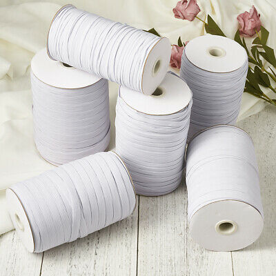 $ CDN20.79 • Buy 3/5/6mm Width White Knit Elastic Band Handing Sewing Carft Length 100/200yards