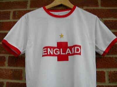 £4.99 • Buy White & Red England St George T-Shirt, Football Rugby Tennis Sports Tee
