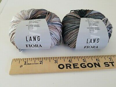 $0.99 • Buy Lot Of 2 LANG FIORA Multi-Color Cotton Acrylic Yarn 50g 145 Meters Italy TAUPE