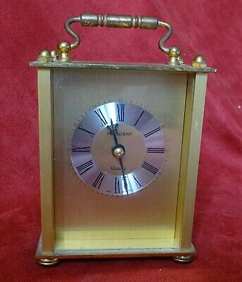Vintage President Quartz Carriage Clock - Made In Germany • 8.99£