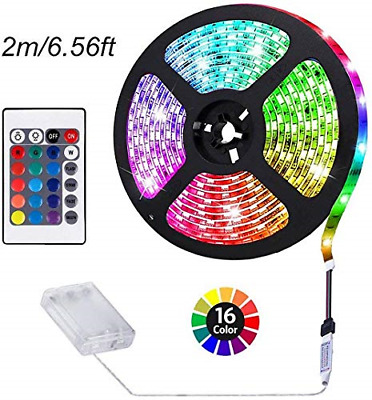 $15.12 • Buy ACONDE Battery Powered LED Strip Lights, RF Remote Controlled, Multi-Color Ch...