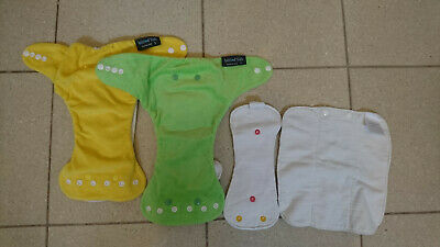 AU16.50 • Buy Itti Bitti D'lish Snap-in-one Cloth Nappies Size Small Yellow And Green