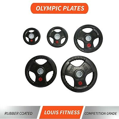 AU50.40 • Buy AU Fitness Olympic 5cm Weights Plates Iron Plate Home Gym Rubber Coated Barbell
