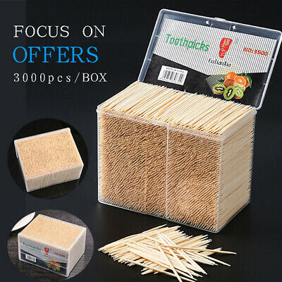 £10.69 • Buy Dental Care Oral Hygiene Pick Bamboo Wooden Tooth Picks 3500pcs/Box