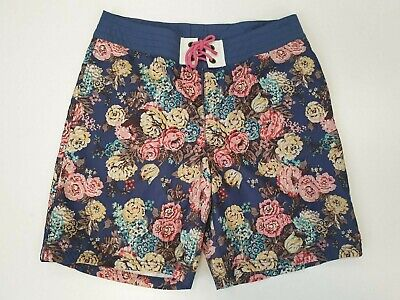 P491 Mens Tom Joule 1982 Team Gb Blue Mix Floral Swimming Shorts Uk M W34 • 19.99£