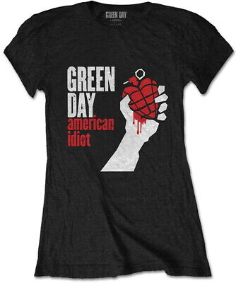 £13.99 • Buy Green Day 'American Idiot' (Black) Womens Fitted T-Shirt - NEW & OFFICIAL!