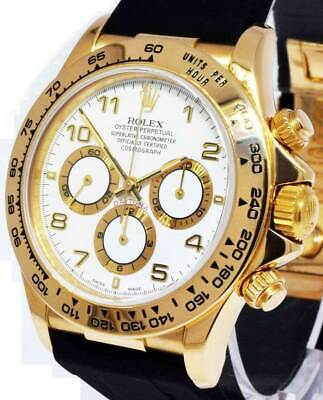 $19995 • Buy Rolex Zenith Daytona 18k Yellow Gold White Dial Chronograph Watch  N 16518