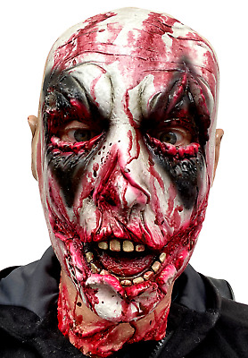 £14.97 • Buy Scary Clown Mask Bloody Zombie Halloween Latex Costume Horror Accessory